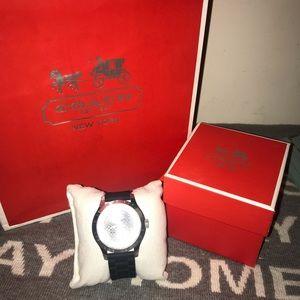 💯% Authentic Black Coach Rubber Watch